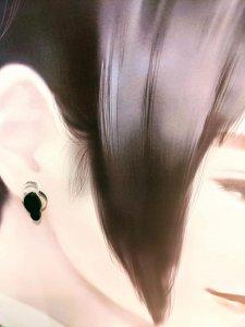 《Kofun shaped》モノトーンの小さな古墳ピアス—双円墳