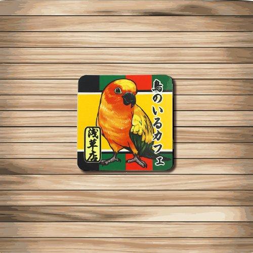 鳥のいるカフェミニステッカー「浅草」