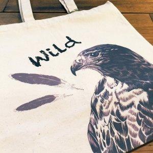 鳥カフェトートバックL「Wildハリス」