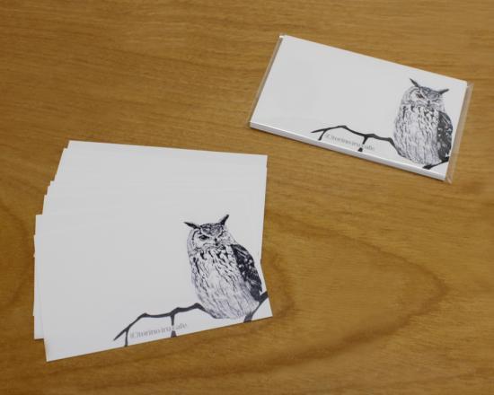 鳥のいるカフェメッセージカード「ベンガル」