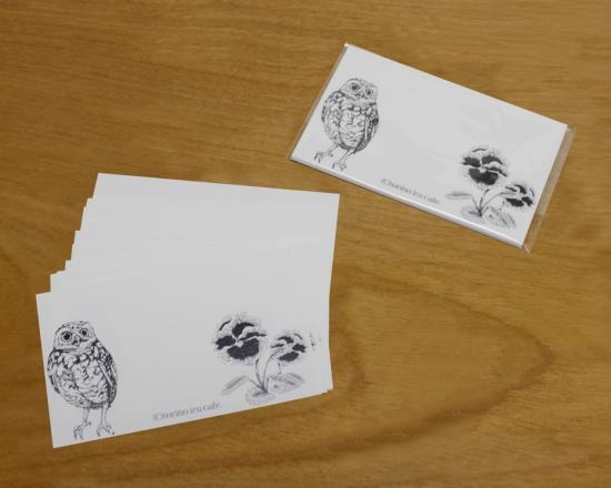 鳥のいるカフェメッセージカード「コキンメ」