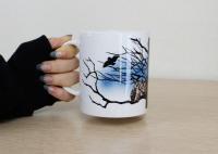 鳥のいるカフェマグカップ「夜フクロウ」