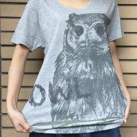 鳥カフェオリジナルUネック半袖Tシャツ「アフコノ」