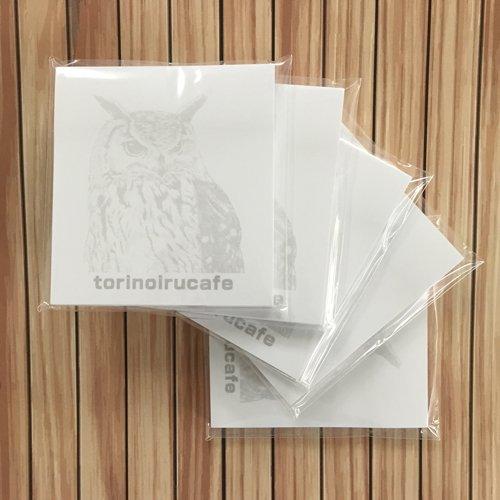 鳥カフェオリジナル 付箋(50枚綴り)