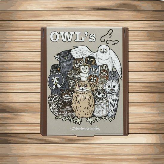 鳥のいるカフェコンパクトミラー「OWLS」