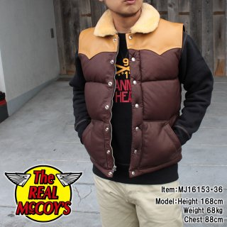<img class='new_mark_img1' src='https://img.shop-pro.jp/img/new/icons15.gif' style='border:none;display:inline;margin:0px;padding:0px;width:auto;' />MOUTON COLLAR LEATHER DOWN VEST ディアスキンダウンベスト