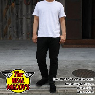 <img class='new_mark_img1' src='https://img.shop-pro.jp/img/new/icons15.gif' style='border:none;display:inline;margin:0px;padding:0px;width:auto;' />JOE McCOY BLACK DENIM PANTS スリムフィットジーンズ