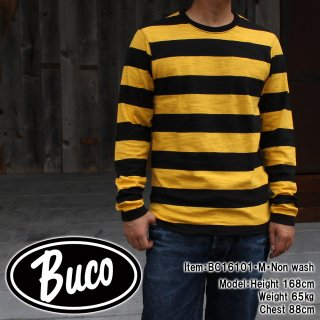 <img class='new_mark_img1' src='https://img.shop-pro.jp/img/new/icons15.gif' style='border:none;display:inline;margin:0px;padding:0px;width:auto;' />BUCO STRIPE TEE L/S Tシャツ