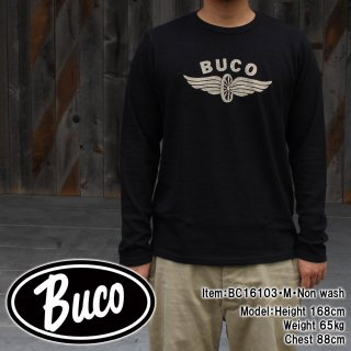 <img class='new_mark_img1' src='//img.shop-pro.jp/img/new/icons15.gif' style='border:none;display:inline;margin:0px;padding:0px;width:auto;' />BUCO TEE LONG SLEEVE / FLYING WHEEL Tシャツ
