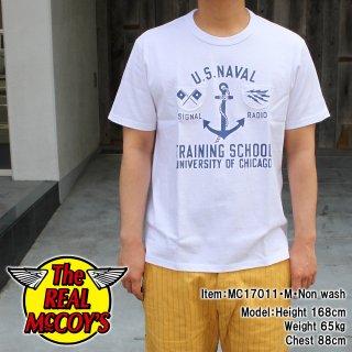 MILITARY TEE / U.S.N.TRAINING SCHOOL Tシャツ