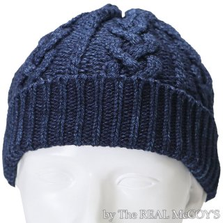 <img class='new_mark_img1' src='//img.shop-pro.jp/img/new/icons15.gif' style='border:none;display:inline;margin:0px;padding:0px;width:auto;' />INDIGO KNIT CAP アラン編みニットキャップ