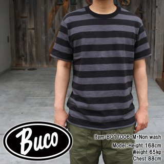 <img class='new_mark_img1' src='//img.shop-pro.jp/img/new/icons15.gif' style='border:none;display:inline;margin:0px;padding:0px;width:auto;' />BUCO STRIPE TEE S/S Tシャツ
