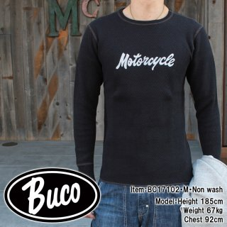 <img class='new_mark_img1' src='//img.shop-pro.jp/img/new/icons15.gif' style='border:none;display:inline;margin:0px;padding:0px;width:auto;' />BUCO THERMAL SHIRT / MOTORCYCLE サーマルシャツ