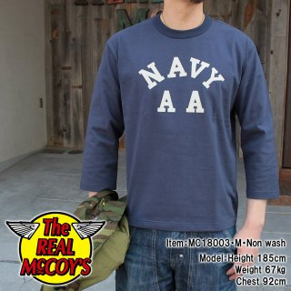 <img class='new_mark_img1' src='https://img.shop-pro.jp/img/new/icons15.gif' style='border:none;display:inline;margin:0px;padding:0px;width:auto;' />MILITARY 3/4 SLEEVE JERSEY / NAVY AA Tシャツ
