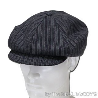 <img class='new_mark_img1' src='https://img.shop-pro.jp/img/new/icons15.gif' style='border:none;display:inline;margin:0px;padding:0px;width:auto;' />DOUBLE DIAMOND DOBBY STRIPE NEWSBOY CAP ニュースボーイキャップ