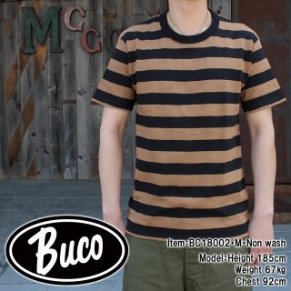 <img class='new_mark_img1' src='https://img.shop-pro.jp/img/new/icons15.gif' style='border:none;display:inline;margin:0px;padding:0px;width:auto;' />BUCO STRIPE TEE S/S Tシャツ