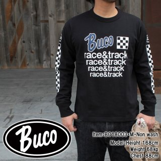 <img class='new_mark_img1' src='//img.shop-pro.jp/img/new/icons15.gif' style='border:none;display:inline;margin:0px;padding:0px;width:auto;' />BUCO TEE / RACE & TRACK L/S Tシャツ
