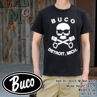 <img class='new_mark_img1' src='//img.shop-pro.jp/img/new/icons15.gif' style='border:none;display:inline;margin:0px;padding:0px;width:auto;' />BUCO TEE / SKULL PISTON S/S Tシャツ