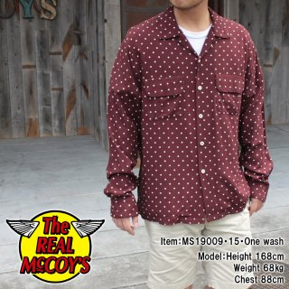 <img class='new_mark_img1' src='https://img.shop-pro.jp/img/new/icons15.gif' style='border:none;display:inline;margin:0px;padding:0px;width:auto;' />POLKA DOT RAYON SHIRT L/S レーヨンシャツ オープンカラーシャツ