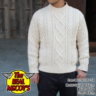 <img class='new_mark_img1' src='https://img.shop-pro.jp/img/new/icons14.gif' style='border:none;display:inline;margin:0px;padding:0px;width:auto;' />【PRE-ORDER】WHITE ARAN CREW NECK SWEATER