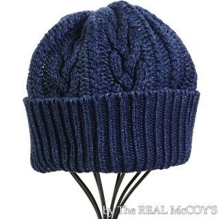 <img class='new_mark_img1' src='https://img.shop-pro.jp/img/new/icons15.gif' style='border:none;display:inline;margin:0px;padding:0px;width:auto;' />INDIGO ARAN KNIT CAP ニットキャップ