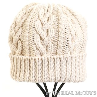 <img class='new_mark_img1' src='https://img.shop-pro.jp/img/new/icons15.gif' style='border:none;display:inline;margin:0px;padding:0px;width:auto;' />WHITE ARAN KNIT CAP ニットキャップ ニット帽 サマーニット
