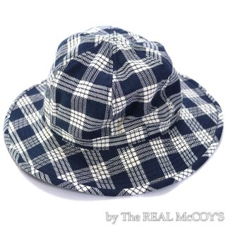 <img class='new_mark_img1' src='https://img.shop-pro.jp/img/new/icons15.gif' style='border:none;display:inline;margin:0px;padding:0px;width:auto;' />8HU INDIGO FLANNEL CHECK FARMER'S HAT ハット