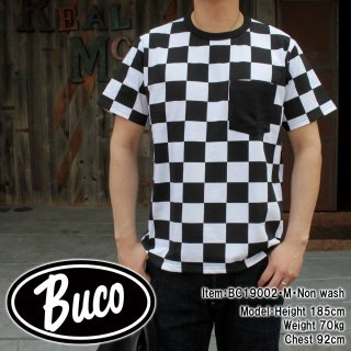 <img class='new_mark_img1' src='https://img.shop-pro.jp/img/new/icons14.gif' style='border:none;display:inline;margin:0px;padding:0px;width:auto;' />【PRE-ORDER】BUCO CHECKERED FLAG POCKET TEE