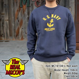 <img class='new_mark_img1' src='https://img.shop-pro.jp/img/new/icons15.gif' style='border:none;display:inline;margin:0px;padding:0px;width:auto;' />MILITARY PRINT SWEATSHIRT / U.S. NAVY ANCHOR ミリタリースウェット プリント