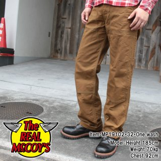 <img class='new_mark_img1' src='https://img.shop-pro.jp/img/new/icons15.gif' style='border:none;display:inline;margin:0px;padding:0px;width:auto;' />8HU BROWN CANVAS DOUBLE KNEE TROUSERS  トラウザー ダブルニー ペインターパンツ