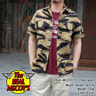 <img class='new_mark_img1' src='https://img.shop-pro.jp/img/new/icons15.gif' style='border:none;display:inline;margin:0px;padding:0px;width:auto;' />TIGER CAMOUFLAGE S/S SHIRT / GOLD TONE ゴールドタイガー 半袖シャツ 迷彩 カモフラ