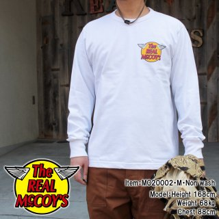 THE REAL McCOY'S LOGO TEE L/S 長袖ロゴTシャツ ロンT