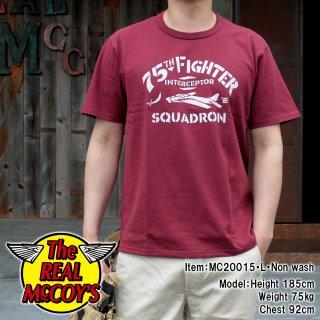 MILITARY TEE / 75th FIGHTER SQUADRON 半袖ミリタリーTシャツ バインダーネック