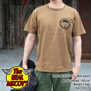 <img class='new_mark_img1' src='https://img.shop-pro.jp/img/new/icons15.gif' style='border:none;display:inline;margin:0px;padding:0px;width:auto;' />MILITARY TEE / UNITED STATES PARATROOPS ミリタリーTシャツ 半袖Tシャツ バインダーネック
