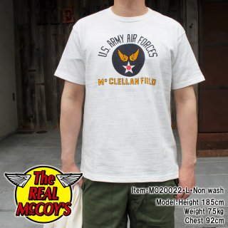 <img class='new_mark_img1' src='https://img.shop-pro.jp/img/new/icons15.gif' style='border:none;display:inline;margin:0px;padding:0px;width:auto;' />AMERICAN ATHLETIC TEE / USAAF McCLELLAN FIELD ミリタリー吊り編みTシャツ ループウィール