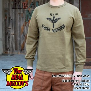MILITARY L/S TEE / 57th SCHOOL SQUADRON 長袖Tシャツ ロンT ミリタリー