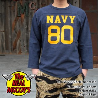 <img class='new_mark_img1' src='https://img.shop-pro.jp/img/new/icons15.gif' style='border:none;display:inline;margin:0px;padding:0px;width:auto;' />MILITARY FOOTBALL TEE / NAVY 80 ミリタリーフットボールTシャツ 七分袖Tシャツ