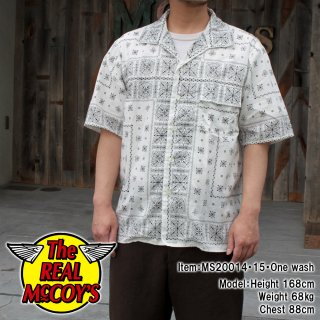 <img class='new_mark_img1' src='https://img.shop-pro.jp/img/new/icons15.gif' style='border:none;display:inline;margin:0px;padding:0px;width:auto;' />JM BANDANA SHIRT S/S バンダナ柄 半袖オープンカラーシャツ