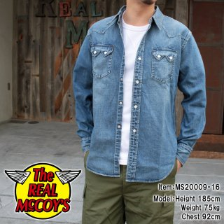 <img class='new_mark_img1' src='https://img.shop-pro.jp/img/new/icons15.gif' style='border:none;display:inline;margin:0px;padding:0px;width:auto;' />JOE McCOY DENIM WESTERN SHIRT / WASHED ウォッシュ加工 デニム ウエスタンシャツ インディゴ