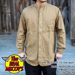 DOUBLE DIAMOND BAND COLLAR SATEEN SHIRT バンドカラーシャツ サテンシャツ 長袖シャツ