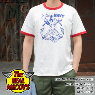 <img class='new_mark_img1' src='https://img.shop-pro.jp/img/new/icons15.gif' style='border:none;display:inline;margin:0px;padding:0px;width:auto;' />MILITARY TEE / JOIN THE NAVY ミリタリーTシャツ 半袖Tシャツ バインダーネック リンガーTシャツ