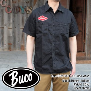 <img class='new_mark_img1' src='https://img.shop-pro.jp/img/new/icons15.gif' style='border:none;display:inline;margin:0px;padding:0px;width:auto;' />BUCO CLUB SHIRT S/S / ENGINEERS カスタム半袖シャツ ヘリンボーン バイカー