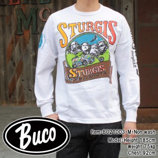 <img class='new_mark_img1' src='https://img.shop-pro.jp/img/new/icons15.gif' style='border:none;display:inline;margin:0px;padding:0px;width:auto;' />【PRE-ORDER】BUCO L/S TEE / STURGIS