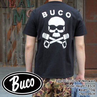 <img class='new_mark_img1' src='https://img.shop-pro.jp/img/new/icons15.gif' style='border:none;display:inline;margin:0px;padding:0px;width:auto;' />BUCO TEE / SKULL PISTON  プリントTシャツ バイカー 半袖Tシャツ ポケットTシャツ