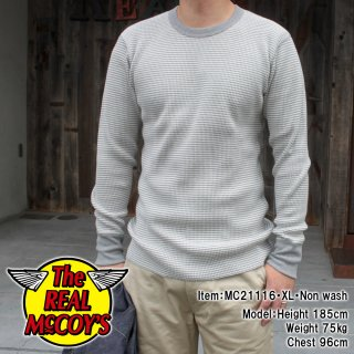 <img class='new_mark_img1' src='https://img.shop-pro.jp/img/new/icons15.gif' style='border:none;display:inline;margin:0px;padding:0px;width:auto;' />WAFFLE STRIPE THERMAL SHIRT L/S ストライプサーマルシャツ Tシャツ ロンT ワッフル ボーダー