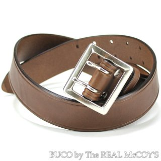 <img class='new_mark_img1' src='https://img.shop-pro.jp/img/new/icons28.gif' style='border:none;display:inline;margin:0px;padding:0px;width:auto;' />BUCO COWHIDE GARRISON BELT / DOUBLE PIN ギャリソンベルト ブラウン