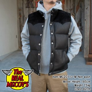 <img class='new_mark_img1' src='https://img.shop-pro.jp/img/new/icons58.gif' style='border:none;display:inline;margin:0px;padding:0px;width:auto;' />Real McCOY DOWN VEST / DEERSKIN ディアスキンダウンベスト
