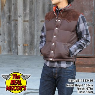 <img class='new_mark_img1' src='https://img.shop-pro.jp/img/new/icons28.gif' style='border:none;display:inline;margin:0px;padding:0px;width:auto;' />Real McCOY DOWN VEST / DEERSKIN ディアスキンダウンベスト