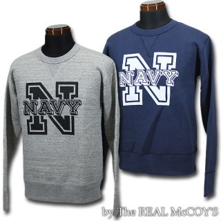 <img class='new_mark_img1' src='https://img.shop-pro.jp/img/new/icons28.gif' style='border:none;display:inline;margin:0px;padding:0px;width:auto;' />McCOY'S MILITARY SWEATSHIRT / NAVY LETTER ミリタリースウェットシャツ