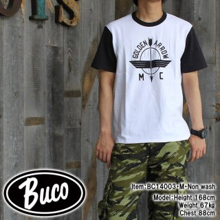 <img class='new_mark_img1' src='//img.shop-pro.jp/img/new/icons28.gif' style='border:none;display:inline;margin:0px;padding:0px;width:auto;' />BUCO TEE / GOLDEN ARROW Tシャツ